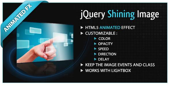 jQuery Shining Image