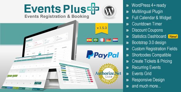 WordPress Events Calendar Registration & Booking v1.5.3