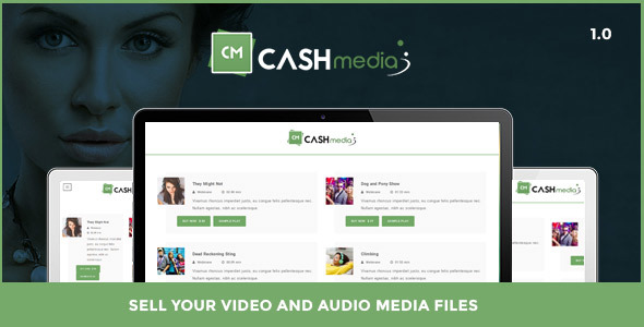 CashMedia - Sell Your Video and Audio Media Files