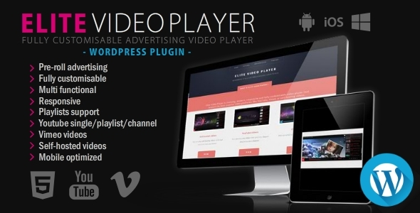 Elite Video Player v2.0.6 - WordPress plugin