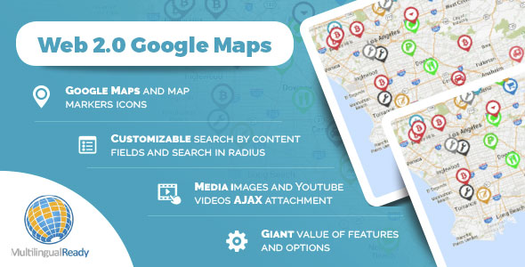 Web 2.0 Google Maps plugin for WordPress