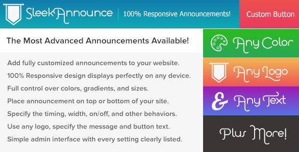SleekAnnounce - Responsive Announcements and Cookie Notifications