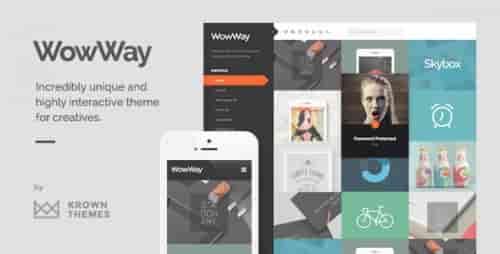 Nulled WowWay v2.1.3 – Interactive & Responsive Portfolio Theme