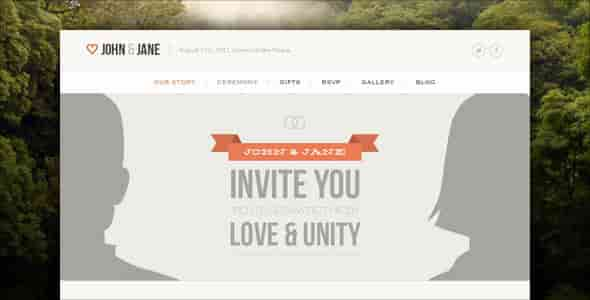 WEDDING - THEMEFOREST RESPONSIVE SINGLE PAGE WP THEME
