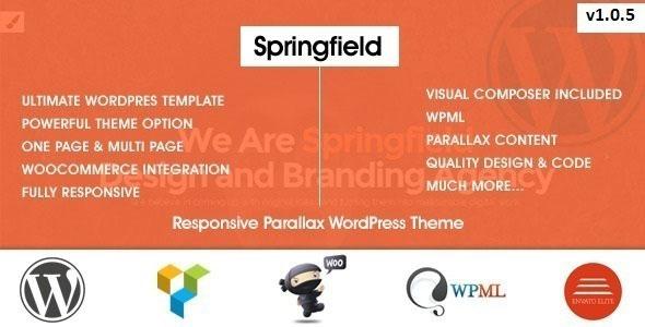 SPRINGFIELD V1.0.5 - RESPONSIVE PARALLAX WORDPRESS THEME