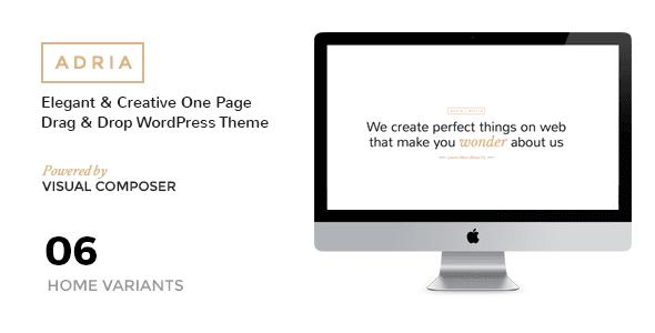 ADRIA v1.6 – Minimal One Page Parallax WordPress Theme