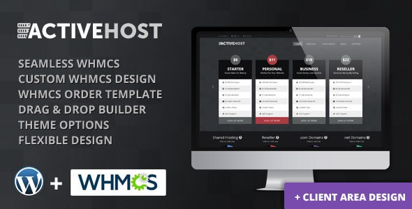 Active Host v1.0 – WordPress + WHMCS Hosting Theme