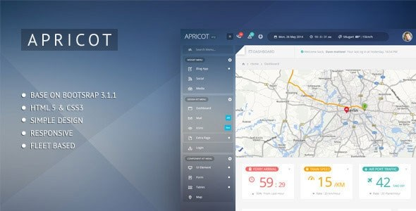 Apricot v1.3 – Navigation Admin Dashboard Template