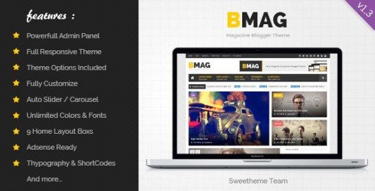 Download – BMAG 1.3.3 – Magazine Responsive Blogger Template