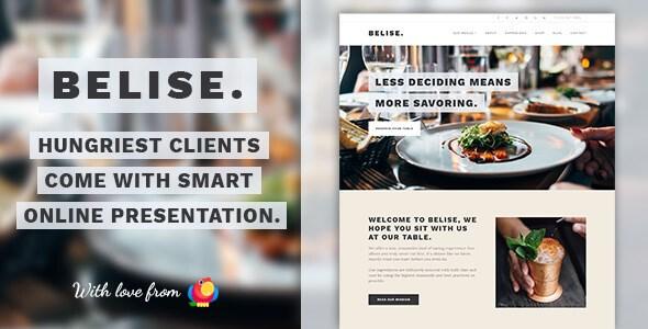 Belise v1.0.9 – Exquisite Minimalist Restaurant WordPress Theme