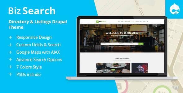 BizSearch v1.2 – Responsive Directory & Listing Drupal 7 Theme