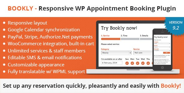 Download – Bookly v9.2 – Booking and Scheduling WP Plugin