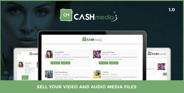 CashMedia – Sell Your Video and Audio Media Files Plugin