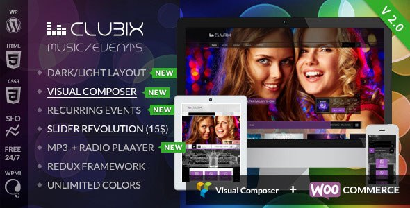 Clubix v2.2.1 – Nightlife, Music & Events WordPress Theme