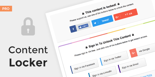 Content Locker Pro v1.0.13 – Premium WordPress Plugin