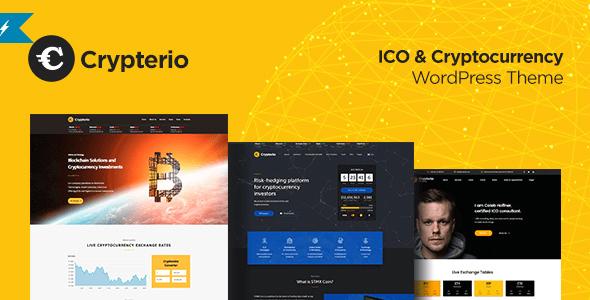 Crypterio v1.4 – Bitcoin, ICO & Cryptocurrency WordPress Theme