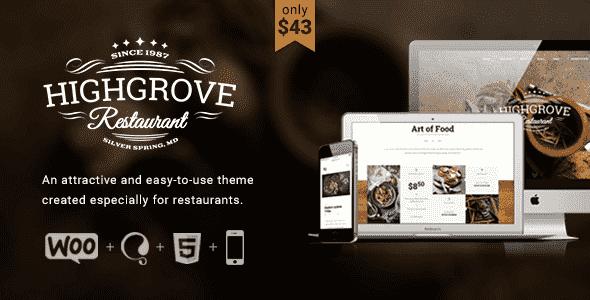 Downlaod – HG Restaurant v1.5.5 – Responsive WP Theme