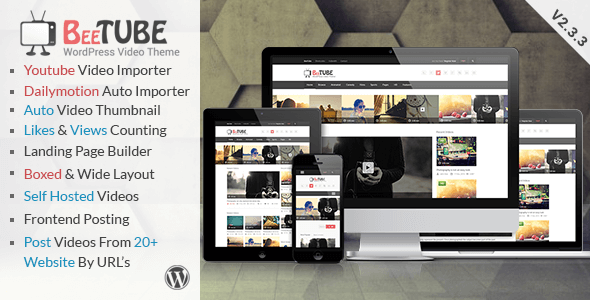 BeeTube v2.3.3 – Responsive Video WordPress Theme