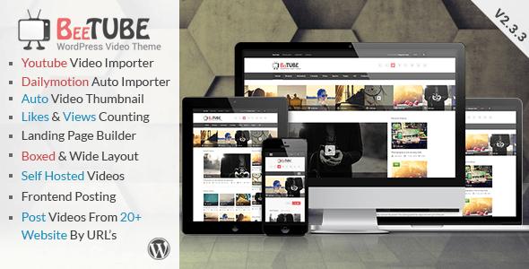 BeeTube v2.3.3 – Responsive Video WordPress Theme