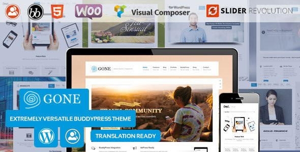 Download – Gone – BuddyPress & WordPress Theme