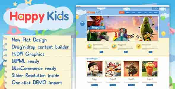 Download – Happy Kids v3.3 – Children WordPress Theme