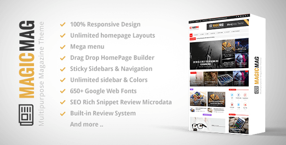 search here... Download – Magic v1.3.4 Responsive WordPress…