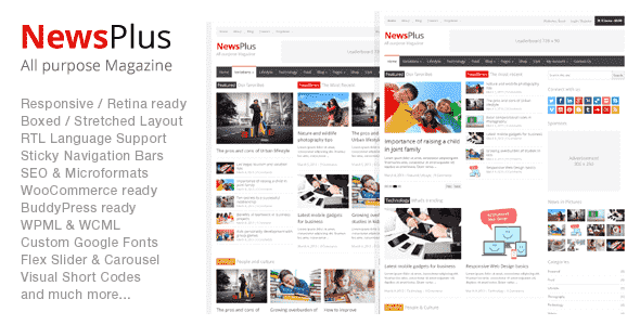 Download – NewsPlus v1.8.0 Magazine Editorial WordPress Theme