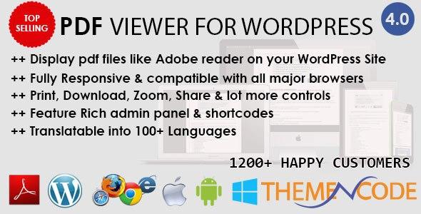 Download – PDF viewer for WordPress v4.5 Plugin