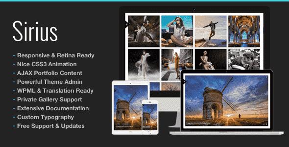 Download – Sirius v1.5 – Responsive Portfolio Photography Theme