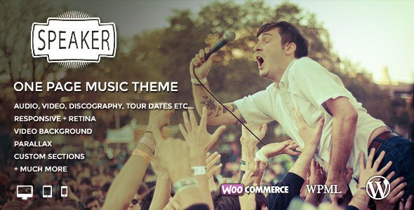 Download – Speaker – One Page Music WordPress Theme