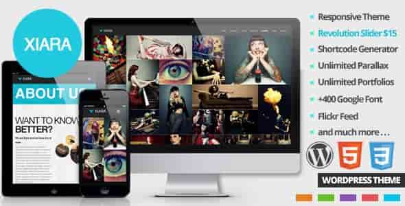 Download – Xiara Responsive WordPress One Page Parallax
