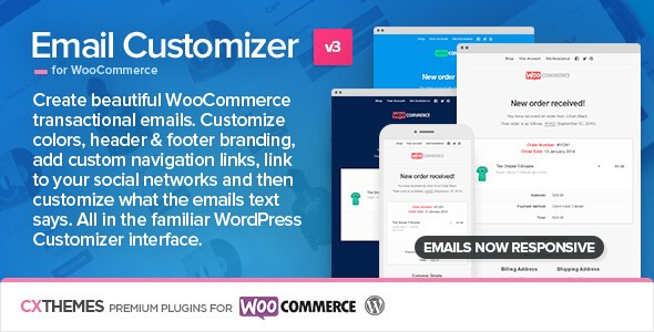 Email Customizer for WooCommerce v3.04 WordPress Plugin