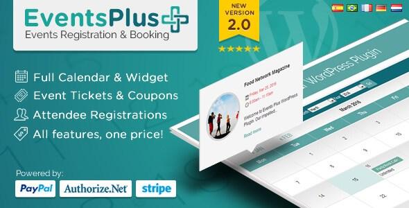Events Calendar Registration & Booking v2.0.3 WordPress Plugin