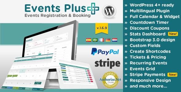 Events Calendar v1.6.9 Registration & Booking WP Plugin