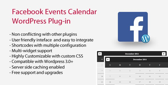 Facebook Events Calendar v4.0 WordPress Plugin