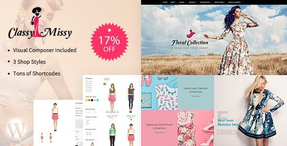 Classy Missy v1.3 – WP Responsive Fashion Woocommerce Theme