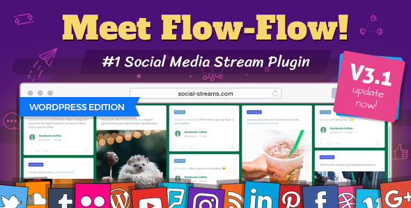 Flow-Flow v3.2.20 – Premium WordPress Social Stream Plugin