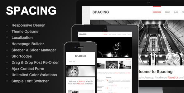 SPACING: THEMEFOREST RESPONSIVE, MINIMAL & BOLD WP THEME