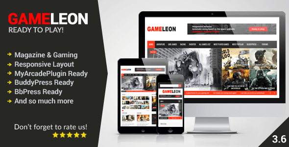 Gameleon v.3.7 – WordPress Magazine & Arcade Theme
