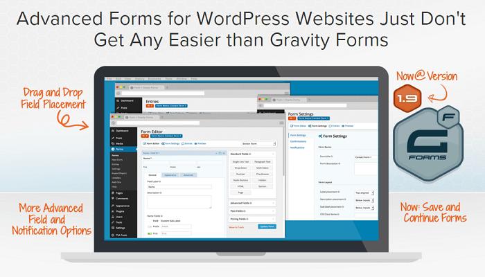 GravityForms v1.9.17 – Advanced Forms for WordPress Plugin
