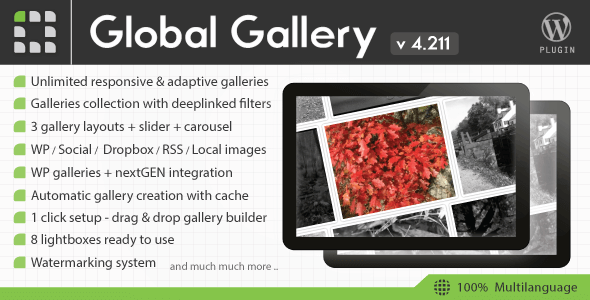 Global Gallery v4.2 – WordPress Responsive Gallery Plugin