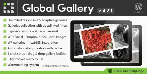 Global Gallery v4.2 – WordPress Responsive Gallery Plugin