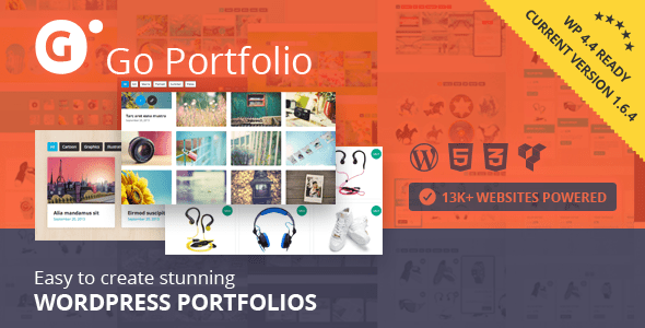 Go Portfolio v1.6.4 – WordPress Responsive Portfolio Plugin