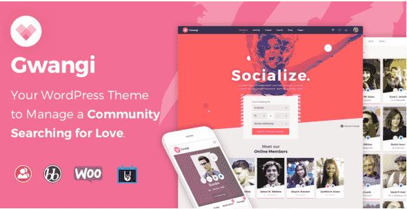 Gwangi V1.0 – Dating & Matchmaking Community WordPress Theme
