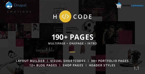 H-code v1.1 – Multipurpose Commerce Drupal 7 Theme