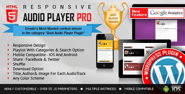 HTML5 Audio Player PRO v2.9.9 – Responsive WordPress plugin
