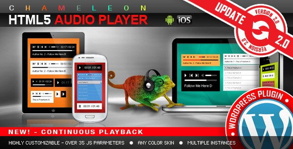 HTML5 Audio Player v2.9.3 – Responsive WordPress Plugin