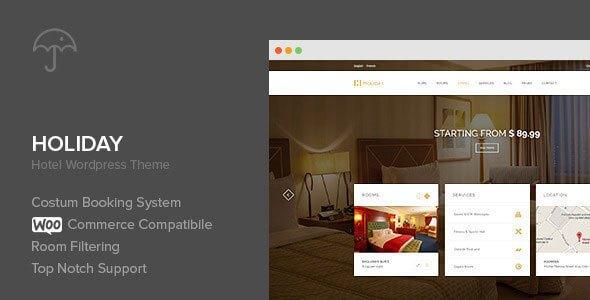 Holiday v1.0.3 – Hotel WordPress Theme