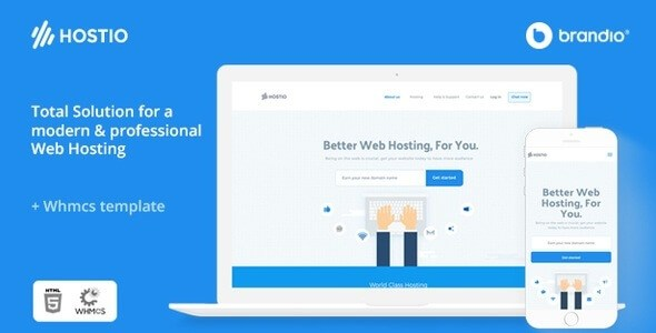 Hostio v1.0 – Responsive Web Hosting & WHMCS WordPress Theme