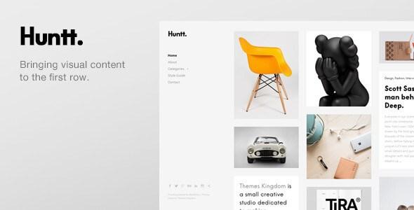 Huntt. v1.3.6 – Personal Blog / Portfolio WordPress Theme